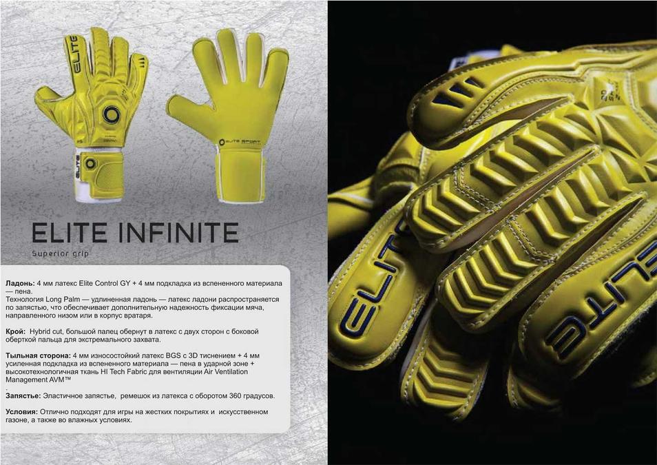 Вратарские перчатки Elite Infinite