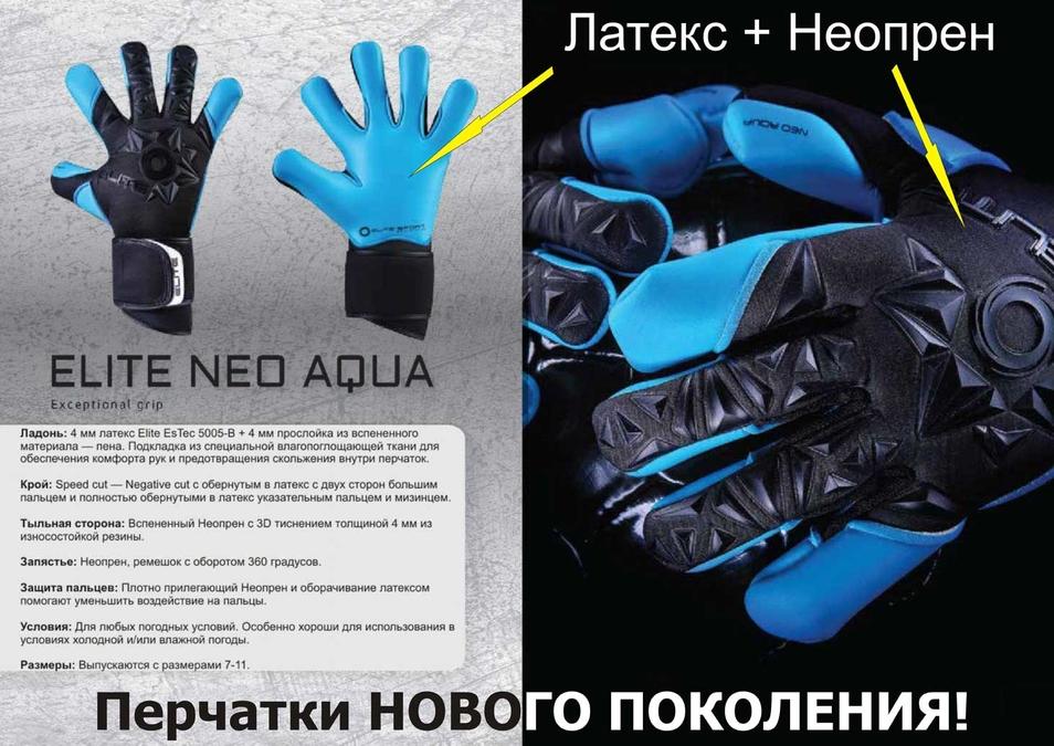 Вратарские перчатки Elite Neo Aqua